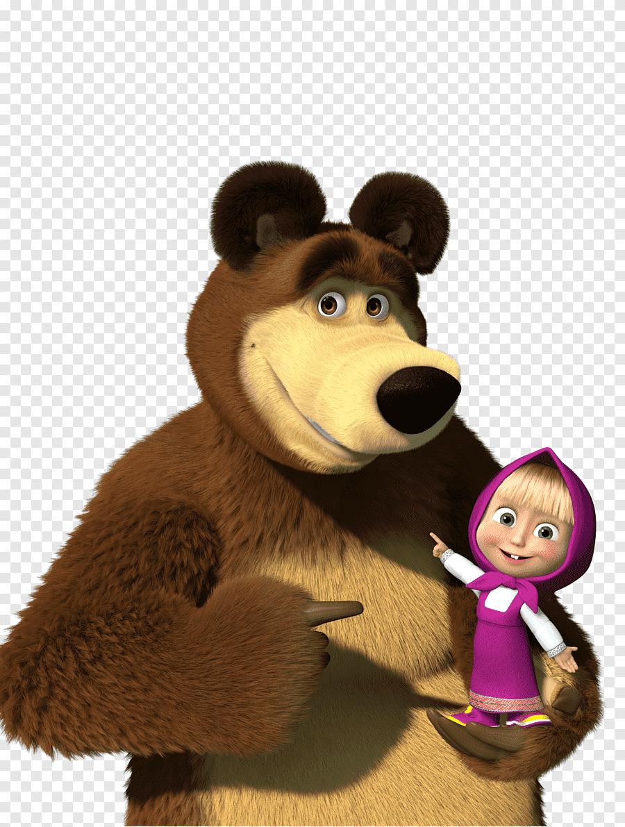 Masha and the Bear Cartoonito Desktop, masha, bear and girl cartoon  character icon, animals, carnivoran png   PNGEgg