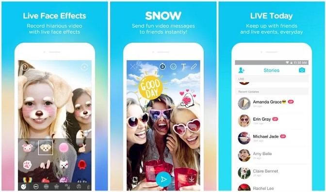 App Snow - sống động từng khung hình