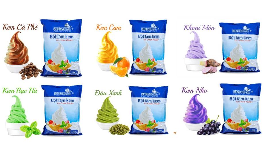 Bột làm kem Benuscream chính hãng tại HTT Việt Nam