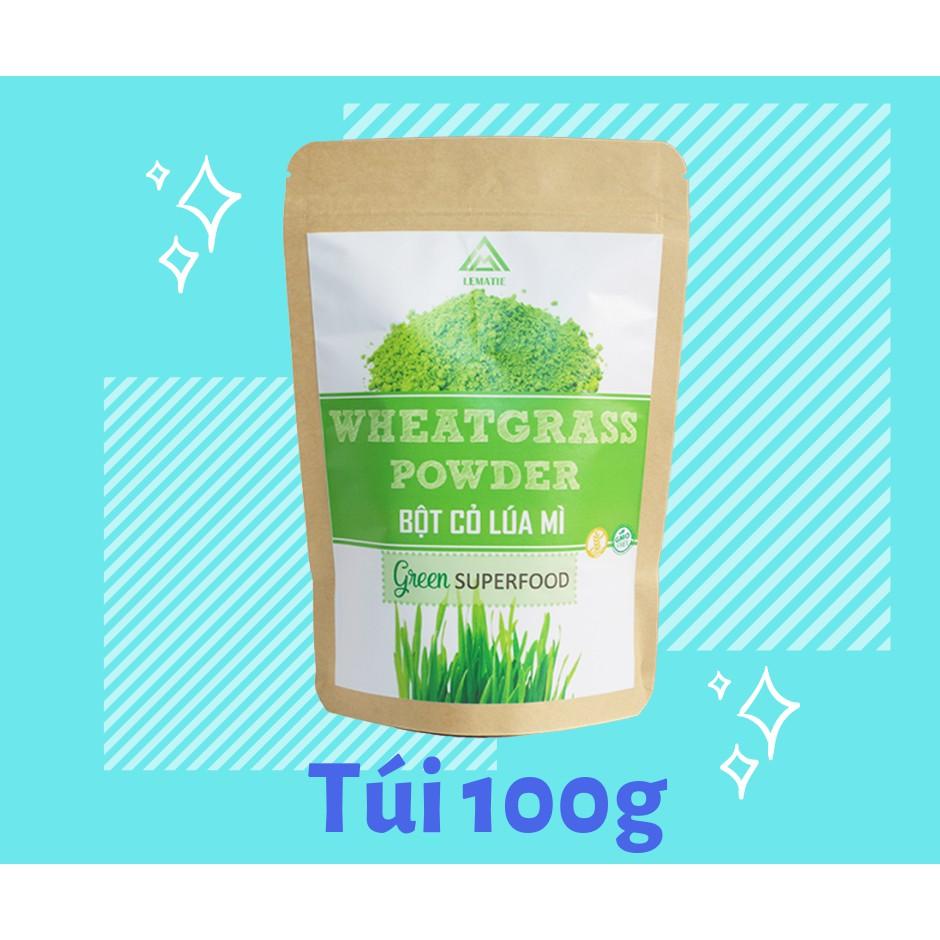 Bột Cỏ Lúa Mì Lematie (Túi Zip 100g) | Shopee Việt Nam