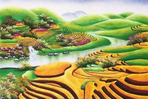 Mua tranh phong cảnh đồng quê Việt Nam đẹp ở đâu?