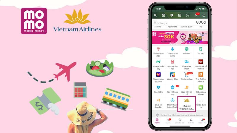 Cách đặt mua vé máy bay Vietnam Airlines qua MoMo cực kỳ tiện lợi